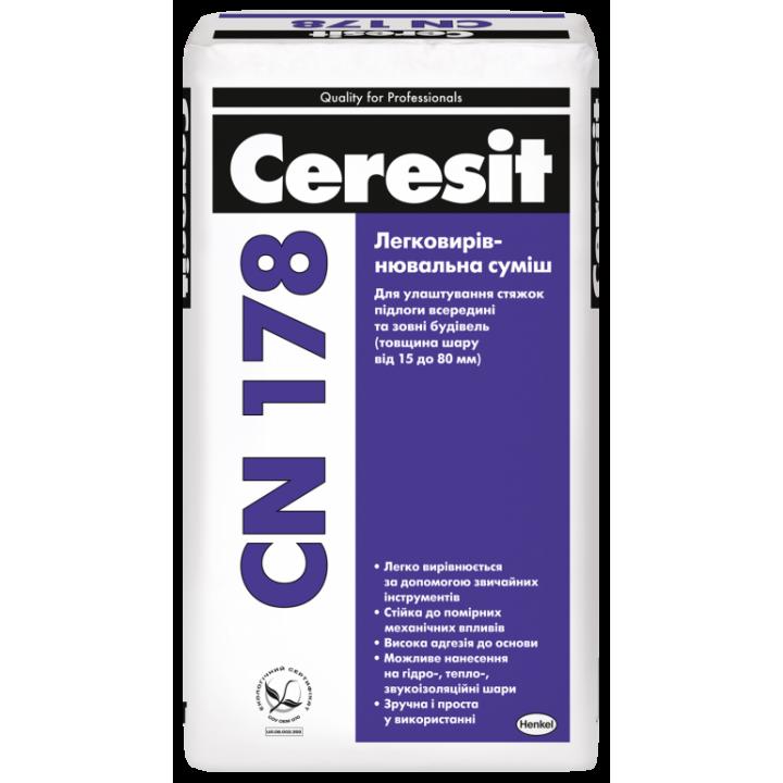Легковыравнивающаяся смесь CERESIT CN 178 (25 кг)