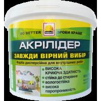 Краска интерьерная износостойкая BUILDER АКРИЛИДЕР (1,4 кг)