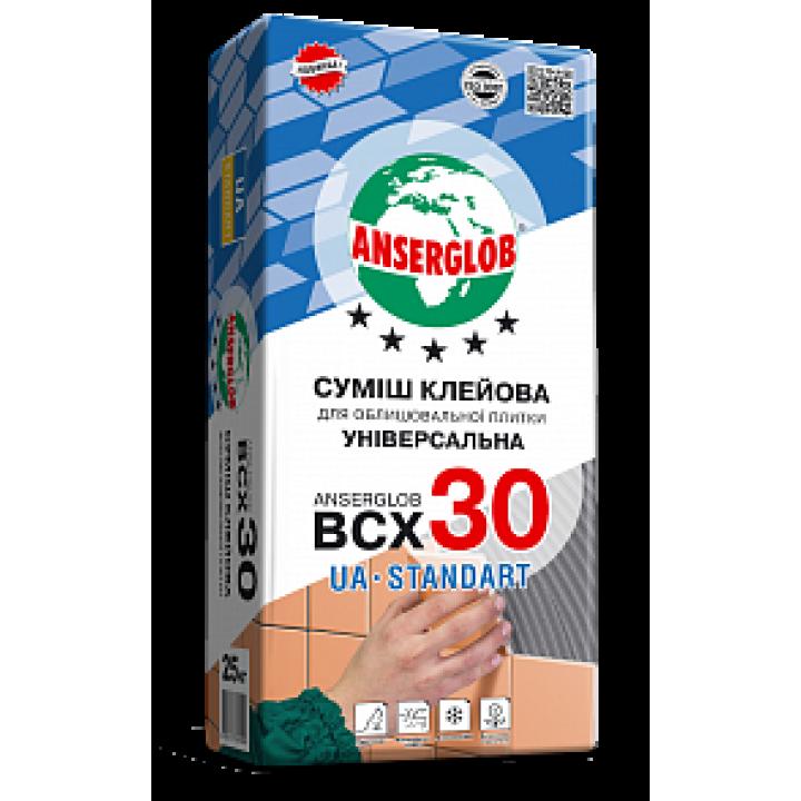 Клей для плитки ANSERGLOB (Ансерглоб) ВСХ-30, 25кг
