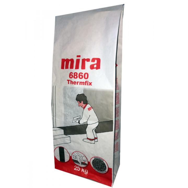 MIRA 6860 thermfix 25кг армирующая смесь для пенопласта и ваты