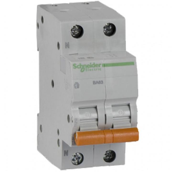 Выключатель автоматический Schneider ВА63 2П 40А С 11217