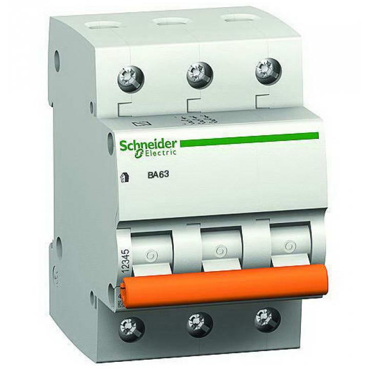 Выключатель автоматический Schneider ВА63 3П 32А С