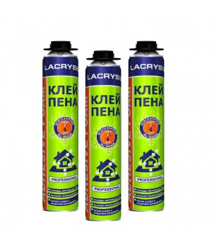 Пена-клей профессиональная ЛАКРИСИЛ (Lacrysil) 1000мл.