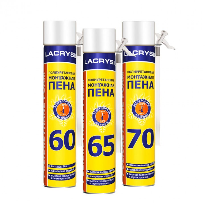 Пена монтажная ручная ЛАКРИСИЛ (Lacrysil) 60