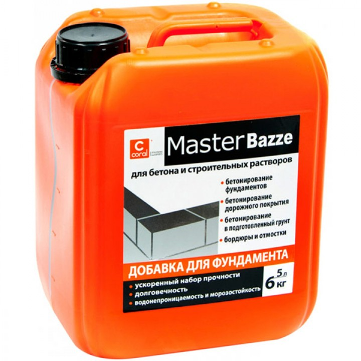 Coral MasterBazze Пластификатор для фундамента (1л.)