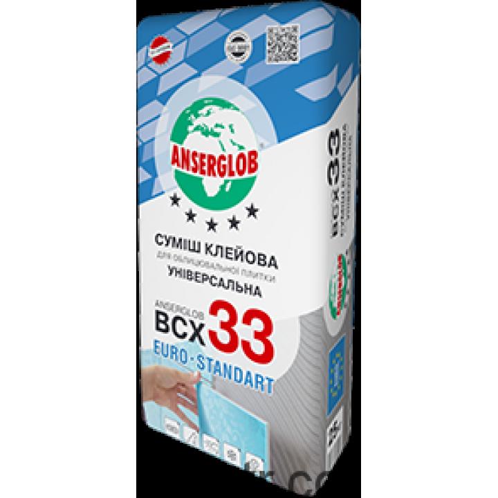 Клей для плитки Anserglob (Ансерглоб) ВСХ-33 (ЗИМА), 25кг