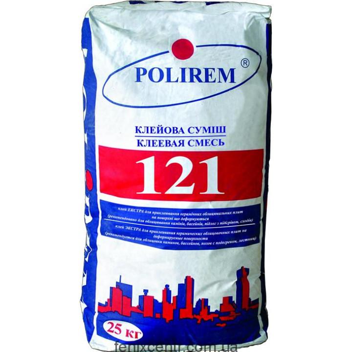 Клей для плитки эластичный POLIREM 121 , 25кг