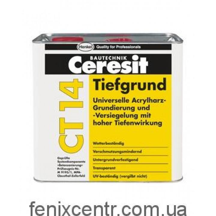 Грунтовка CERESIT CT 14 универсальная глубокопроникающая (5 л)