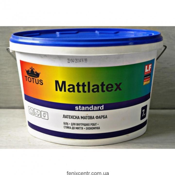 Краска латексная матовая TOTUS Mattlatex, 14кг