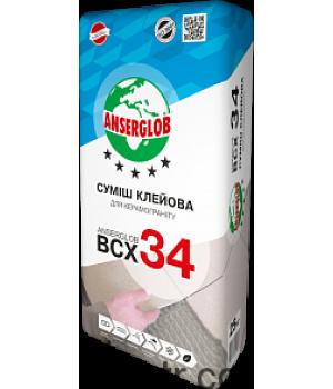Клей для керамогранита ANSERGLOB (Ансерглоб) ВСХ-34, 25кг