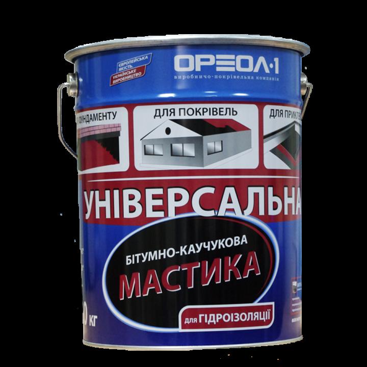Мастика битумно-резиновая ОРЕОЛ-1 (10кг)
