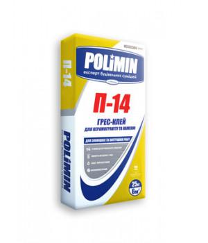 Полимин  П-14 Клей для керамогранита и камня 25кг