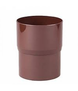 Соединитель трубы (муфта) Profil (d100/коричневый)