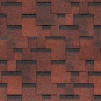 Битумная черепица Шинглас (Shinglas) финская серия Аккорд красный (3 кв.м/уп)