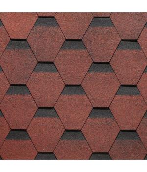 Битумная черепица Roofmast Соната (красный/3 кв м/уп)