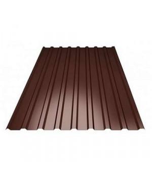 Профнастил толщина 0,35 мм (0.95*2м) коричневый