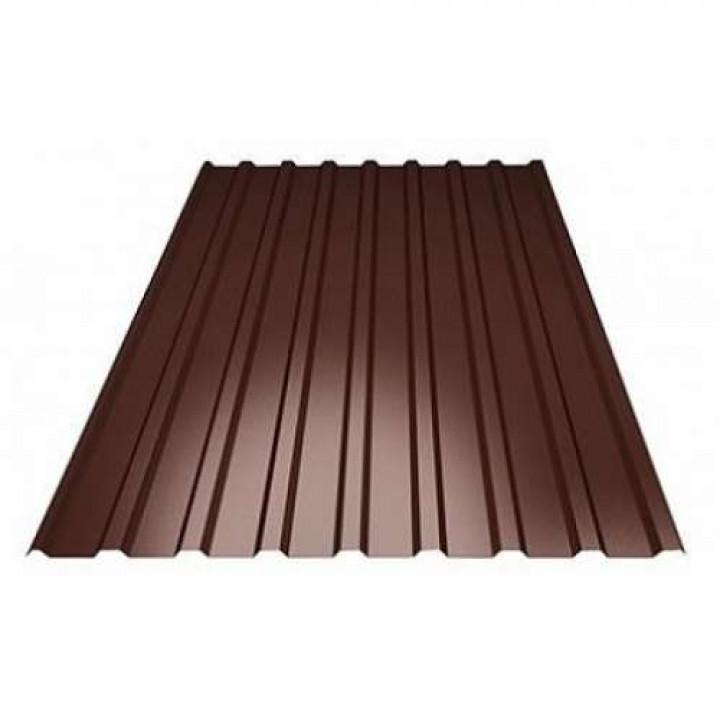 Профнастил толщина 0,40 мм (0.53*1.23 м) коричневый