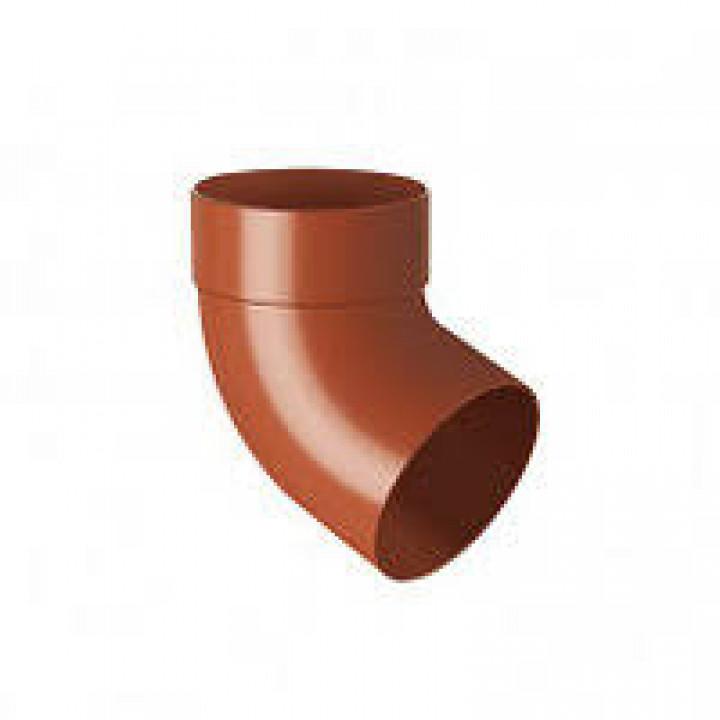 Отвод одномуфтовый RAINWAY (67/100мм/коричневый)