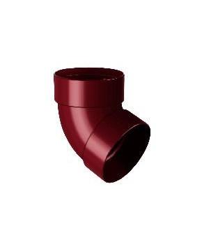 Отвод двухмуфтовый RAINWAY (67/100мм/коричневый)