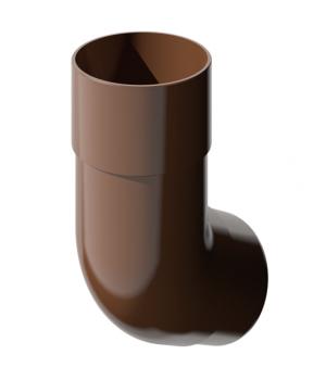 Колено трубы коричневое Технониколь (82мм/108°)