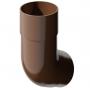 Коліно труби коричневе Техноніколь (82мм/108°)