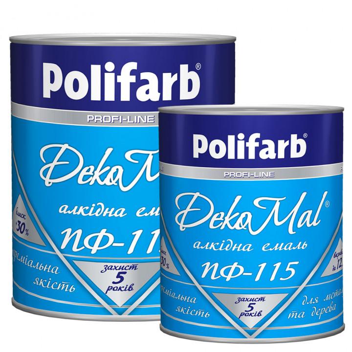 Эмаль алкидная Polifarb DekoMal ПФ-115 ГОСТ (Полифарб)  2,7 кг/желтая