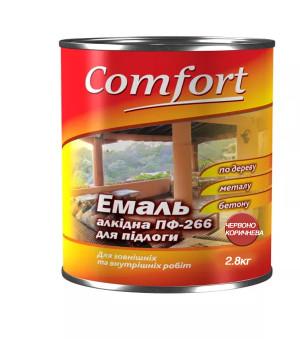 Эмаль Комфорт (Comfort) ПФ-266 красно-коричневая (2,8кг.)