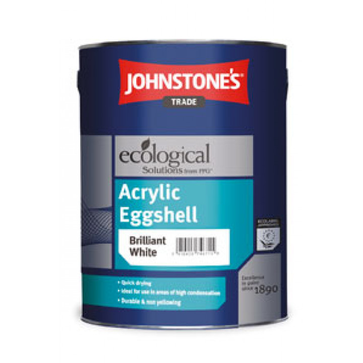 Краска сверхпрочная полуматовая JOHNSTONE'S (Джонстоунс) Acrylic Eggshell (5кг)
