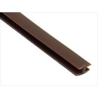 Пластиковая полоса соединительная шоколад (8мм*6м.)