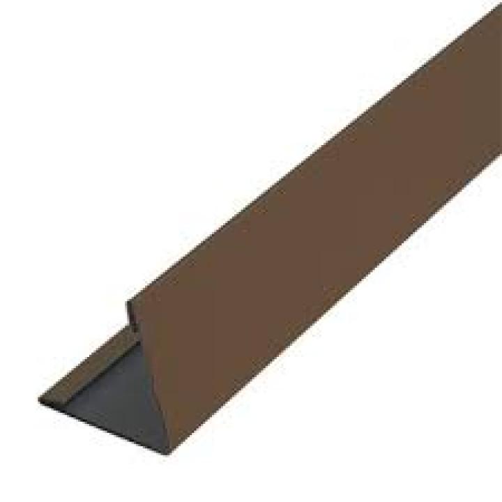 Пластиковый угол наружный шоколад (6м.)