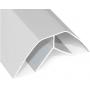 Пластиковый угол внутренний белый (6м.)