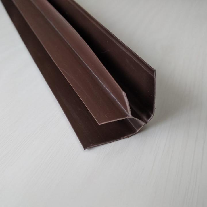 Пластиковый угол внутренний шоколад (6м.)