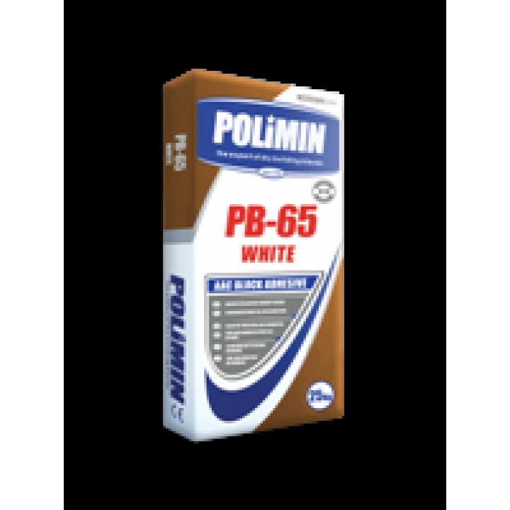 ПОЛИМИН П-65 БЕЛЫЙ Клей для газоблока  25кг