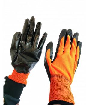 Перчатки стрейчевые Right hausen (оранжево-черные плотные)