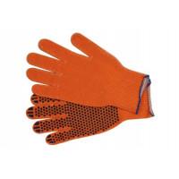 Перчатки х/б Right hausen (оранжевые с ПВХ/эконом)