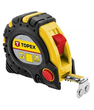 Рулетка TOPEX стальная лента 5м*25 мм (27C345)