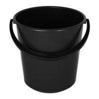Ведро пластмассовое черное 10л