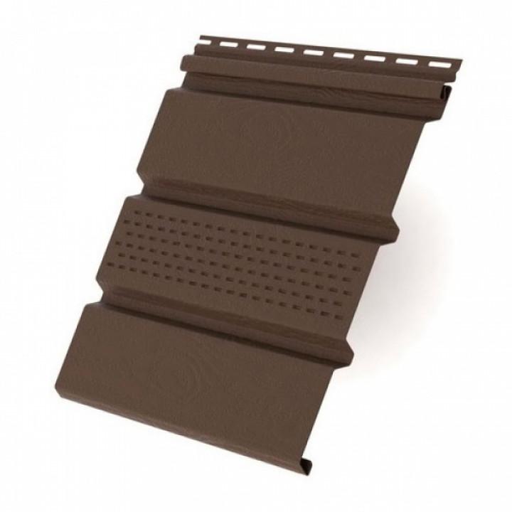 Панель софит (Т-20/перфорированная/коричневая)