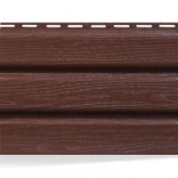 Панель софит АйДахо (перфорированная/без перфорации/коричневая), 2,7м.