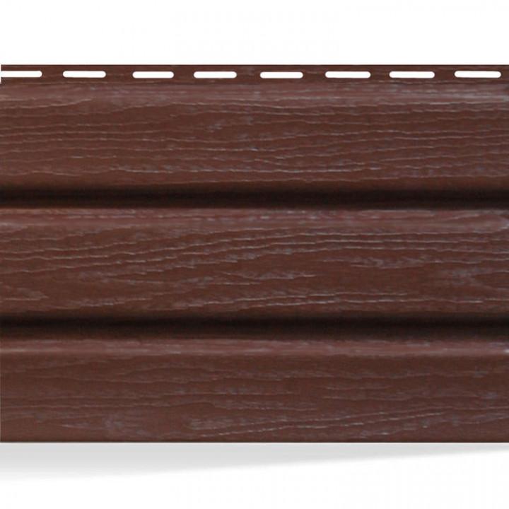 Панель софит АйДахо (перфорированная/без перфорации/коричневая), 3м.