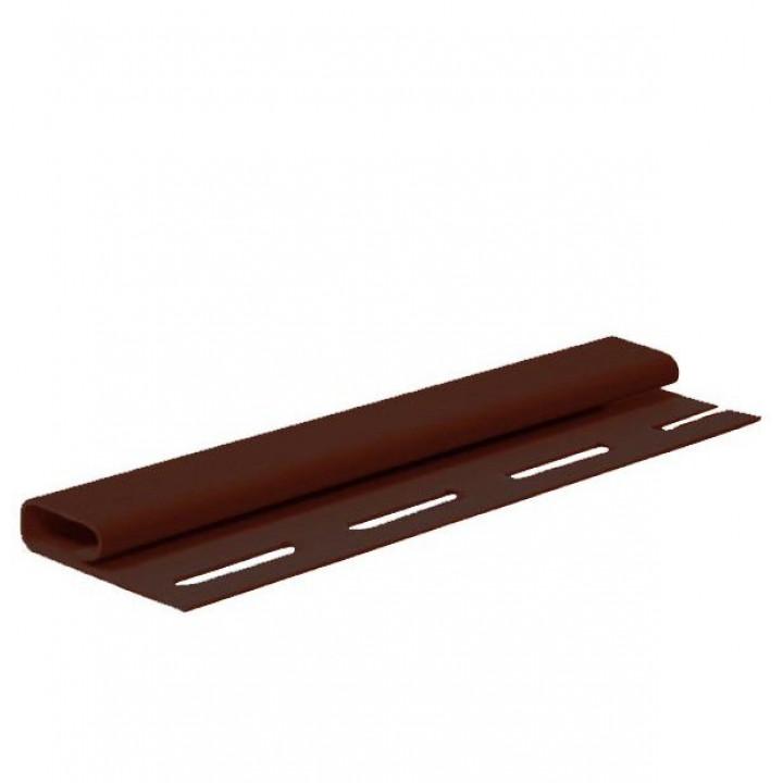 Планка FaSiding финишная (коричневая/3.66м.)