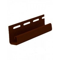 Планка софит J-trim (коричневая)