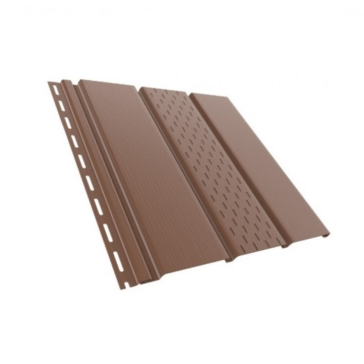 Панель софит (частично перфорированная/коричневая/310мм*3000мм) Технониколь