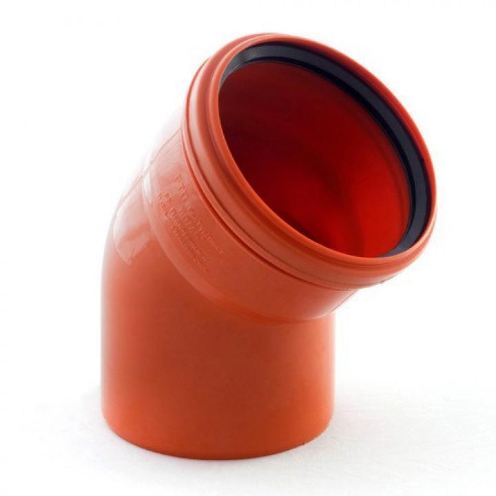 Колено канализационное 110/45 (наружное)