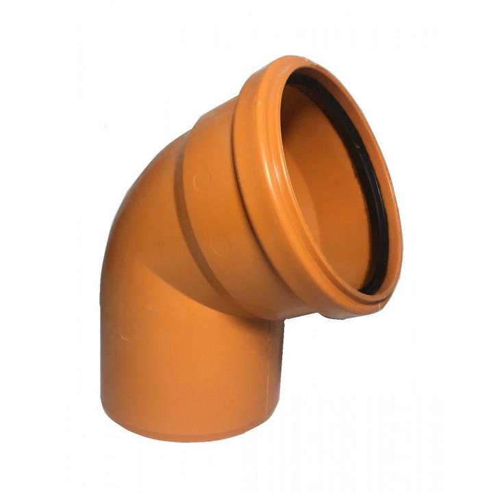 Колено канализационное 110/67 (наружное)