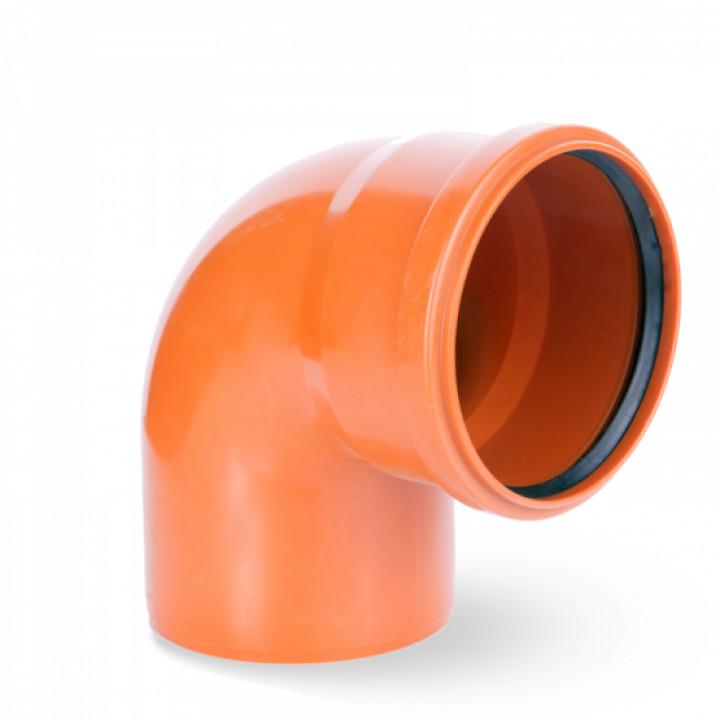 Колено канализационное 200/90 (наружное)