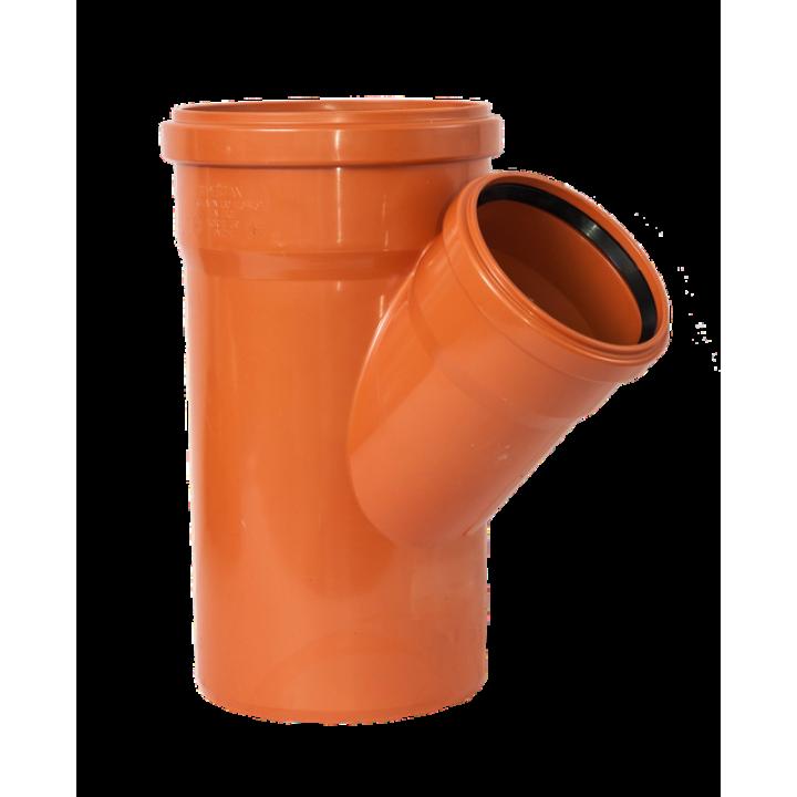 Тройник канализационный 200/160/45 (наружный)
