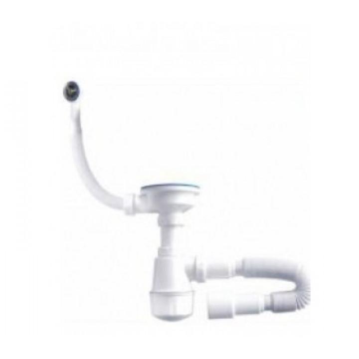 Сифон для мойки с переливом Aquanova 1048 (винт 60 мм.)