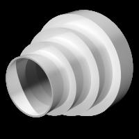Соединитель эксцентриковый круглых воздуховодов универсальный Омис (D160/150/125/120/100/80)