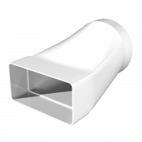 Соединитель эксцентриковый плоского воздуховода с круглым Омис (55х110/D100)
